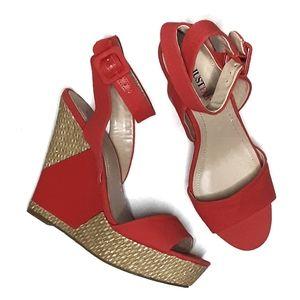 JustFab Kira Platform Wedge Sandals